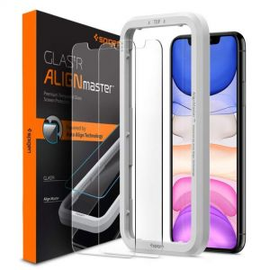 [2 Pack] iPhone 11 / iPhone XR AlignMaster Glas.tR (Sensor Opening Type)