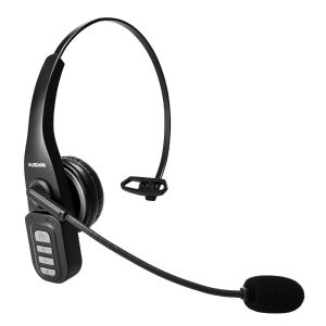 AUSDOM BW01 Bluetooth 5.0 Phone Headset, Business Headset with Noise Cancelling Mic Hands-Free Wireless Headset