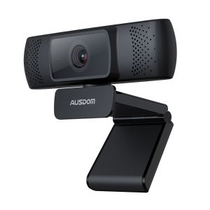 AUSDOM Webcam 1080P Auto Focus Camera with Noise Cancelling Microphone (AF640)