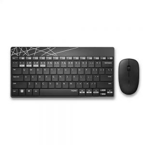 Rapoo 8000M Silent Wireless Keyboard Mouse Combos
