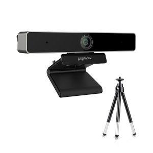Papalook by AUSDOM PA920 2K Webcam with Dual Microphone, Privacy Cover and Tripod, Plug and Play for Skype Video Conferencing, Chatting, and Recording