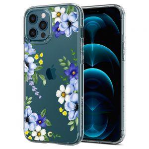 CYRILL Ciel iPhone 12 Pro Max Case Spigen Sub Brand Midnight Bloom